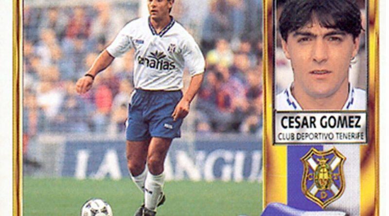 Liga 95-96. César Gómez (C.D. Tenerife). Ediciones Este. 📸: Grupo de Facebook Nuestros álbumes de cromos.