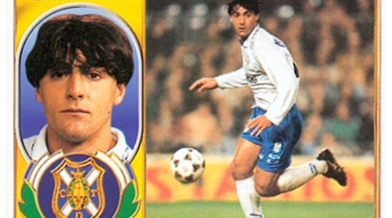 Liga 97-98. César Gómez (C.D. Tenerife). Ediciones Este. 📸: Grupo de Facebook Nuestros álbumes de cromos.