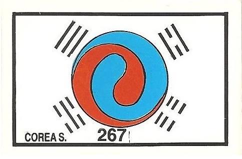 México 86. Bandera Corea del Sur (Corea del Sur) Cromos Barna.