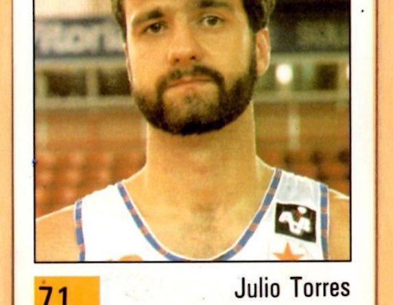 Basket 90 ACB. Julio Torres (Taugrés). Ediciones Panini. 📸: Grupo de Facebook Nuestros álbumes de cromos.