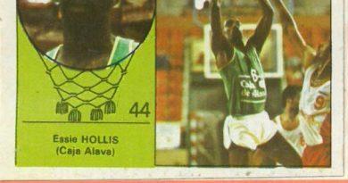 Campeonato Baloncesto Liga 1984-1985. Essie Hollis (Caja Álava). Ediciones J. Merchante - Clesa. 📸: Emilio Rodríguez Bravo.