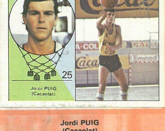 Campeonato Baloncesto Liga 1984-1985. Jordi Puig (Cacaolat). Ediciones J. Merchante - Clesa. 📸: Emilio Rodríguez Bravo.