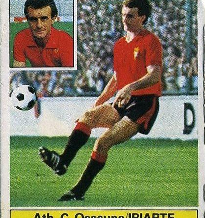 Liga 1981-82. Iriarte (Osasuna). Ediciones Este. 📸: Grupo de Facebook Nuestros álbumes de cromos.