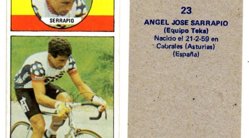 Vuelta ciclista, Ases del pedal. Ángel José Sarrapio (Teka). Editorial Merchante. 📸: Antonio Sevillano Gil.