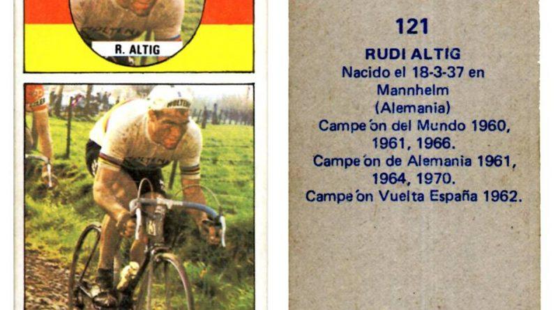 Vuelta ciclista, Ases del pedal. Rudi Altig (República Federal Alemana). Editorial Merchante. 📸: Antonio Sevillano Gil.