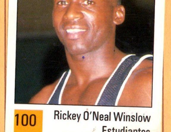 Basket 90 ACB. Rickie Winslow (Estudiantes). Ediciones Panini. 📸: Grupo de Facebook Nuestros álbumes de cromos.