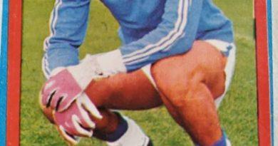Campeonato Nacional de Fútbol 1977-78. Gato Fernández (R.C.D. Español) Editorial Ruiz Romero. 📸: MtLale Susowwsl ALale.