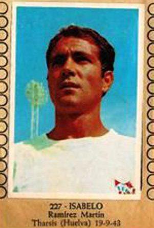 Fútbol Color 1967-68. Isabelo (Sevilla F.C). Editorial Burguera. 📸: Grupo de Facebook Nuestros álbumes de cromos.