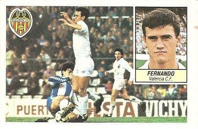 Liga 84-85. Fernando (Valencia C.F.). Ediciones Este.