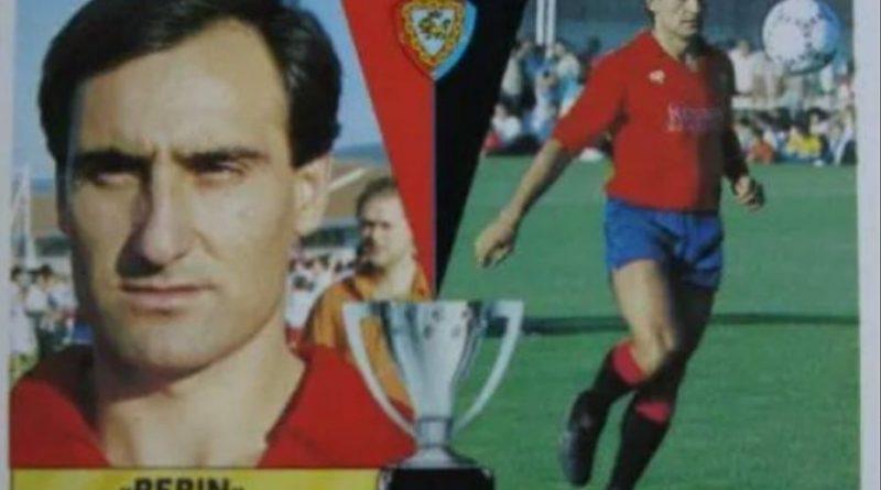 Liga 87-88. Pepín (Osasuna). Fichaje Nº 32. Ediciones Este. 📸: Grupo de Facebook Nuestros álbumes de cromos.