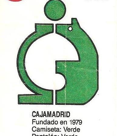 Liga Baloncesto 1985-1986. Escudo Cajamadrid (Cajamadrid). Ediciones Dubble Dubble.