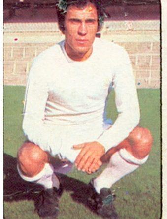 Liga 76-77. Amancio (Real Madrid C.F.). Ediciones Este. Fotografía Toni Izaro.