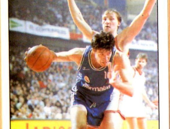 Basket 90 ACB. Fernando Martín (Real Madrid). Ediciones Panini. 📸: Grupo de Facebook Nuestros álbumes de cromos.