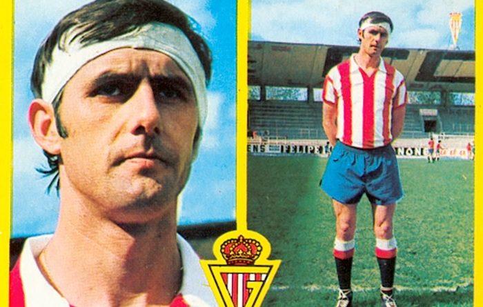 Liga 72-73. Alonso (Sporting de Gijón). Ediciones Este. 📸: Toni Izaro.