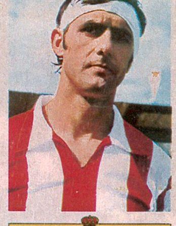 Liga 73-74. Alonso (Real Sporting de Gijón). Ediciones Este. 📸: Toni Izaro.