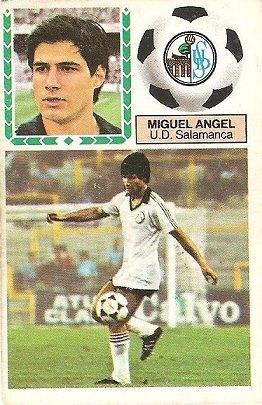 Liga 83-84. Miguel Ángel (U.D. Salamanca). Ediciones Este.