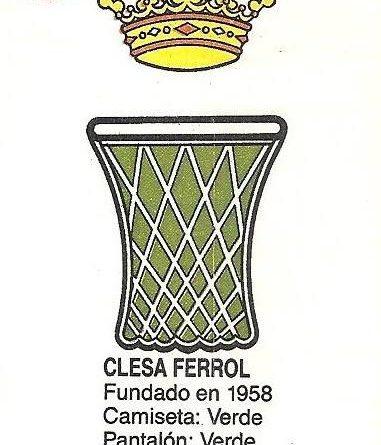 Liga Baloncesto 1985-1986. Escudo Clesa Ferrol (Clesa Ferrol). Ediciones Dubble Dubble.