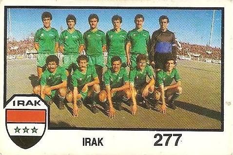 México 86. Alineación Irak (Irak) Cromos Barna.