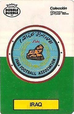 Mundial 1986. Escudo Iraq (Iraq). Ediciones Dubble Dubble.