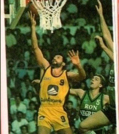 Basket Cromos 88-89. Germán González (Cajacanarias) Editorial J. Merchante – Bollycao. 📸: Sergio Jiménez.