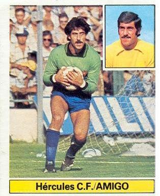 Liga 1981-82. Amigó (Hércules C.F.). Ediciones Este. 📸: Grupo de Facebook Nuestros álbumes de cromos.