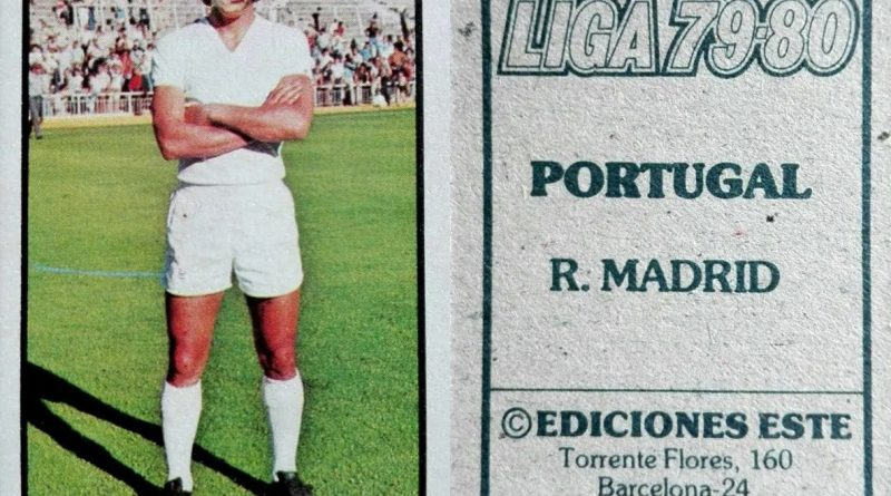Liga 79-80. Portugal (Real Madrid). Ediciones Este. 📸: Grupo de Facebook Nuestros álbumes de cromos.