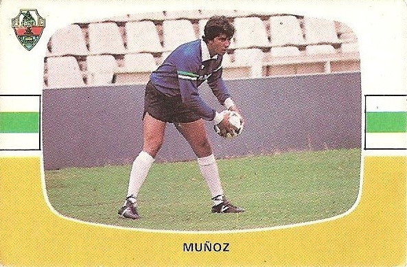 Liga 84-85. Fichaje Nº 8 A Muñoz (Elche C.F.). Cromos Cano.