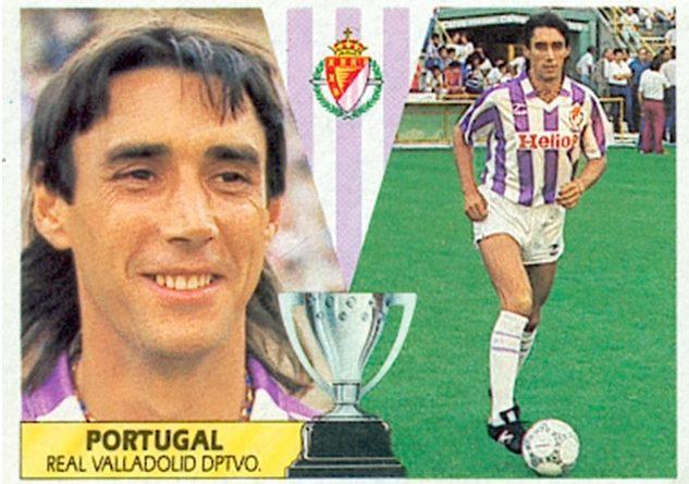 Liga 87-88. Portugal (Real Valladolid). Fichaje Nº 10. Ediciones Este. 📸: Toni Izaro.