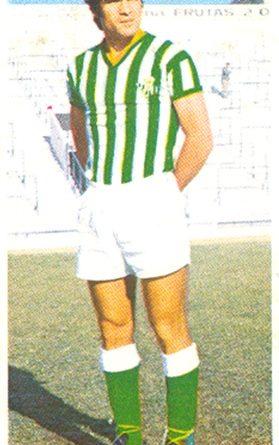 Liga 75-76. Biosca (Real Betis). Ediciones Este. 📸: Toni Izaro.
