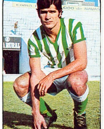 Liga 76-77. Biosca (Real Betis). Ediciones Este. 📸: Toni Izaro.