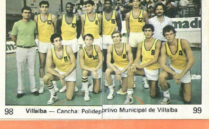 Campeonato Baloncesto Liga 1984-1985. Plantilla Collado Villalba. Ediciones J. Merchante - Clesa. 📸: Emilio Rodriguez Bravo.