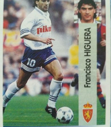 Liga 96-97. Higuera (Real Zaragoza). Ediciones Panini. 📸: Javier Pedraza.