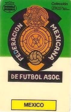 Mundial 1986. Escudo México (México). Ediciones Dubble Dubble.