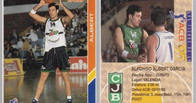 ACB 94-95. Alfonso Albert (Club Joventut de Badalona) Editorial Mundicromo. 📸: Guillermo Suárez.