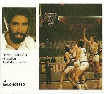 Ases del Deporte Mundial 1983. Rullán (Real Madrid) Editorial Bruguera. 📸: Fermín López Rico.