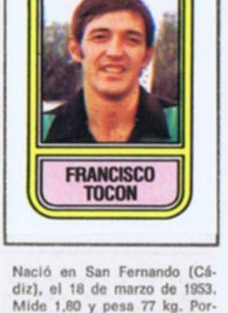 Fútbol 82. Tocón (Getafe Deportivo). Ediciones Panini. Cromo Crom. 📸: Grupo de Facebook Nuestros álbumes de cromos.