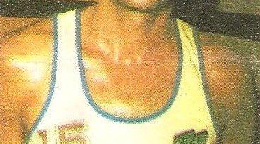 Liga Baloncesto 1985-1986. Juan Ramón Fernández (Cacaolat Granollers). Chicle Gumtar.