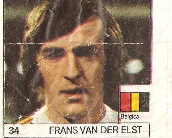 Super Cromos Los Mejores del Mundo (1981). Van der Elst (Bélgica). Chicle Fútbol Boomer.