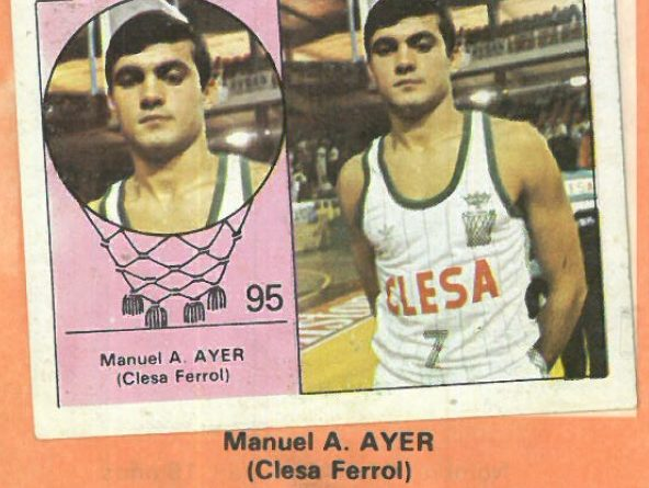 Campeonato Baloncesto Liga 1984-1985. Manuel Aller (Clesa Ferrol). Ediciones J. Merchante - Clesa. 📸: Emilio Rodríguez Bravo.