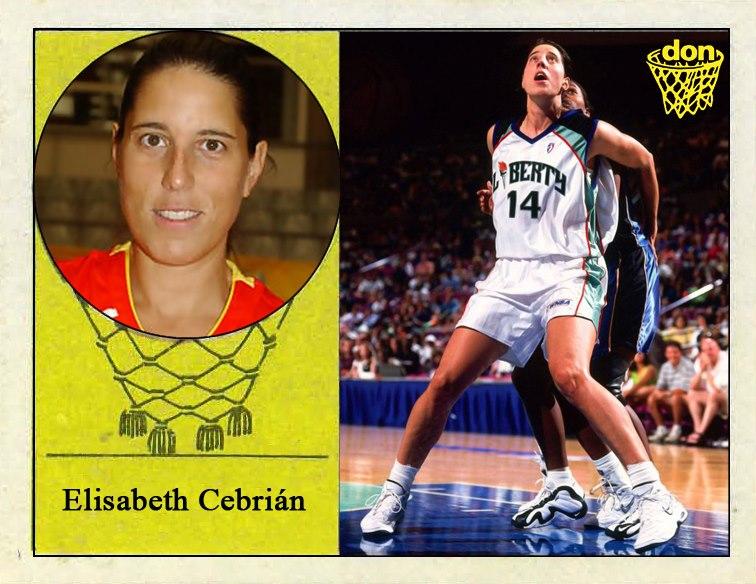 Elisabeth Cebrián (New York Liberty). 📸: Cromo-Montaje del Grupo de Facebook Nuestros álbumes de cromos.