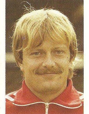 Eurocopa 1984. Berggreen (Dinamarca) Editorial Fans Colección.