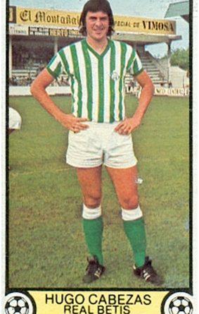 Liga 79-80. Hugo Cabezas (Real Betis). Ediciones Este. 📸: Toni Izaro.