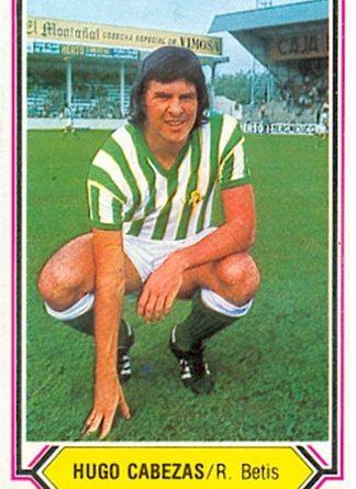 Liga 80-81. Hugo Cabezas (Real Betis). Ediciones Este. 📸: Toni Izaro.
