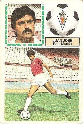 Liga 83-84. Juan José (Real Murcia). Ediciones Este.