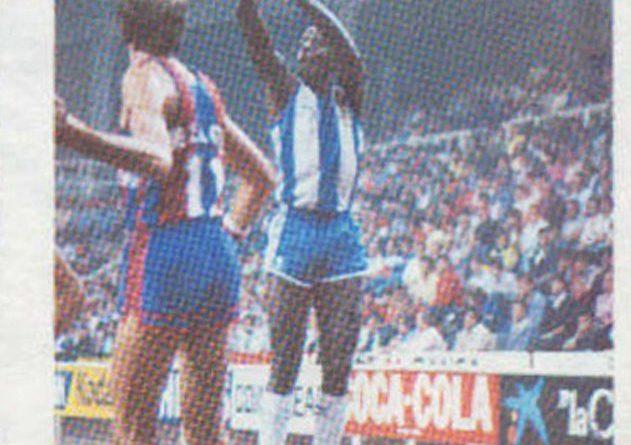 Liga Baloncesto 1984-1985. Pepe Collins (RCD Español). Editorial Eurocrom. 📸: Grupo de Facebook Nuestros álbumes de cromos.
