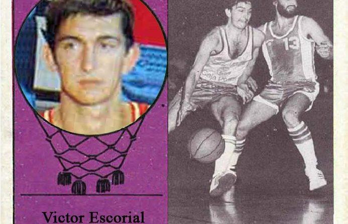 Víctor Escorial (Estudiantes). 📸: Cromo-Montaje del Grupo de Facebook Nuestros álbumes de cromos.