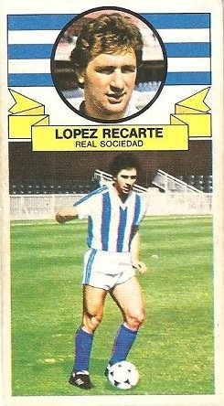 Liga 85-86. Fichaje Nº 2 López Recarte (Real Sociedad). Ediciones Este.
