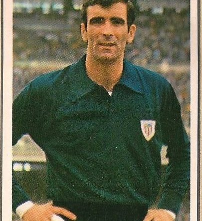 Liga 70-71. Iríbar (Athletic Club). Editorial Ruiz Romero. 📸: Francisco García.