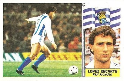 Liga 86-87. López Recarte (Real Sociedad). Ediciones Este.