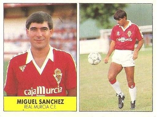 Liga 87-88. Miguel Sánchez (Real Murcia). Ediciones Festival.